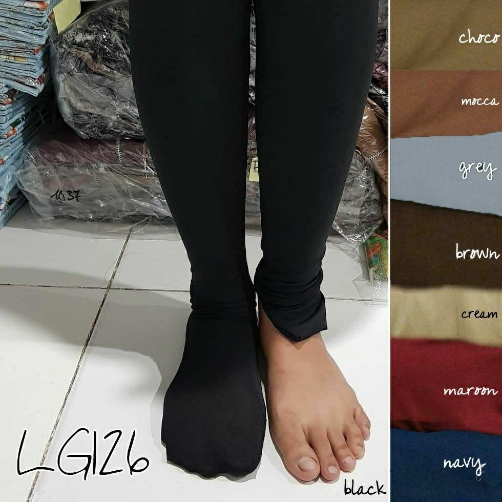 Legging wudhu HITAM SAJA