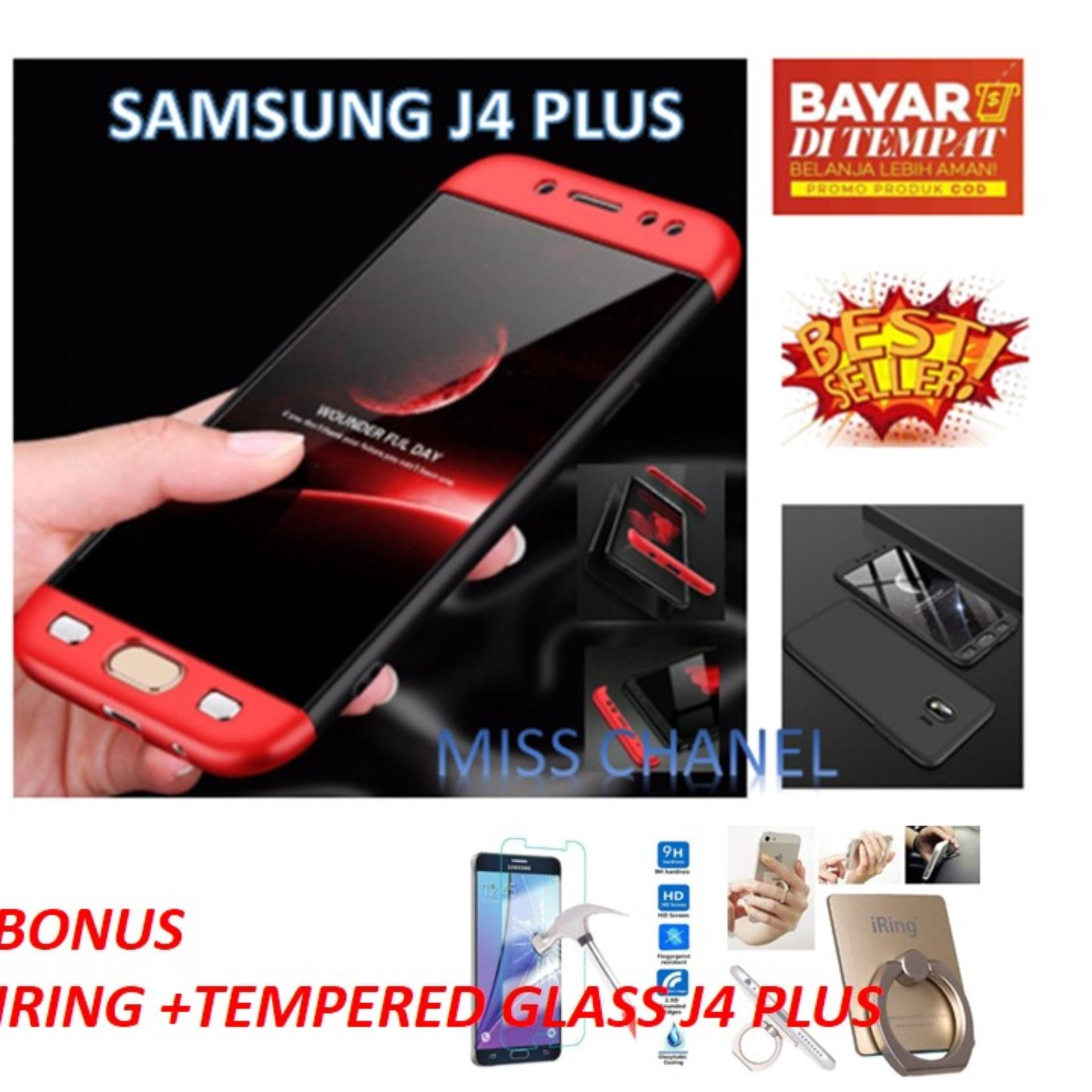 Case GKK 360 Full Body Protection for  Samsung  Galaxy J4 PLUS 2018 /Casing Cover  Degree Full Protection Hard PC Cover / CASE 360 PREMIUM FULL PERLINDUNGAN DEPAN BELAKANG BONUS ANTI GORES KACA + IRING