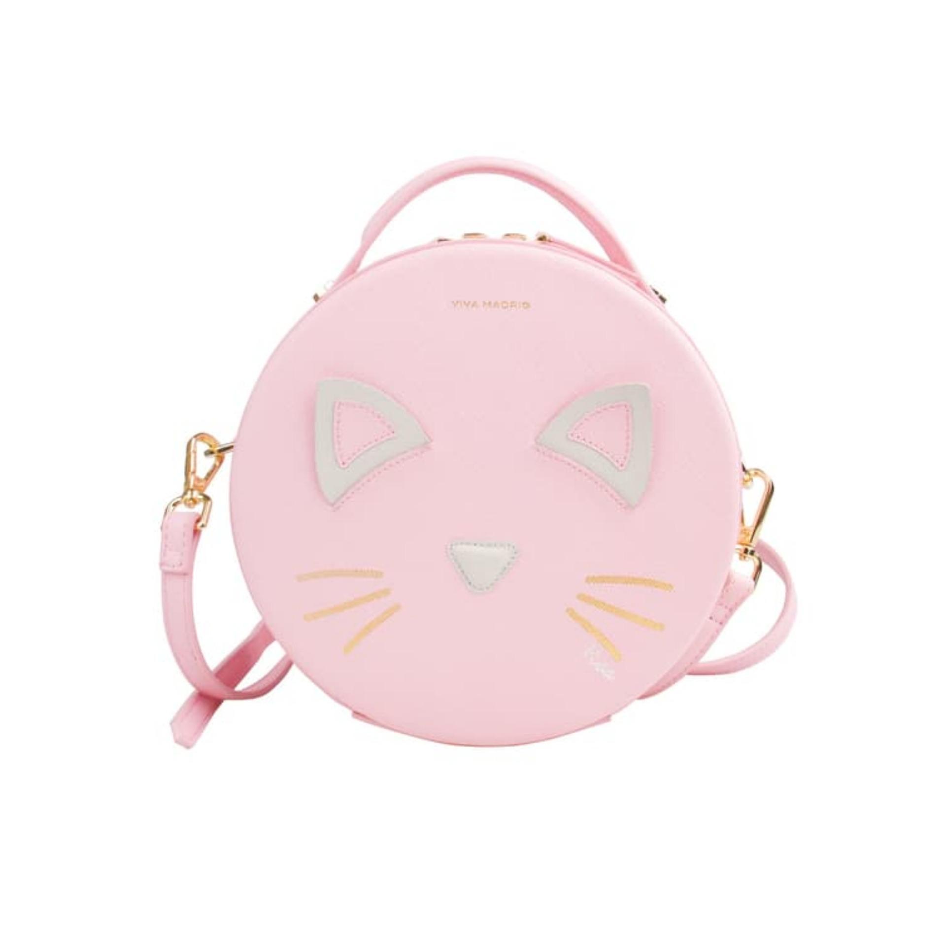 Viva Madrid Mascota Sling Bag Puss In Love - Pink