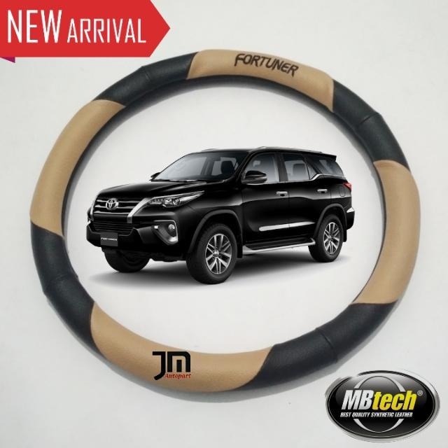 Cover Stir Sarung Setir Mobil Toyota FORTUNER Cream - Exclusive (Original MB-Tech 100