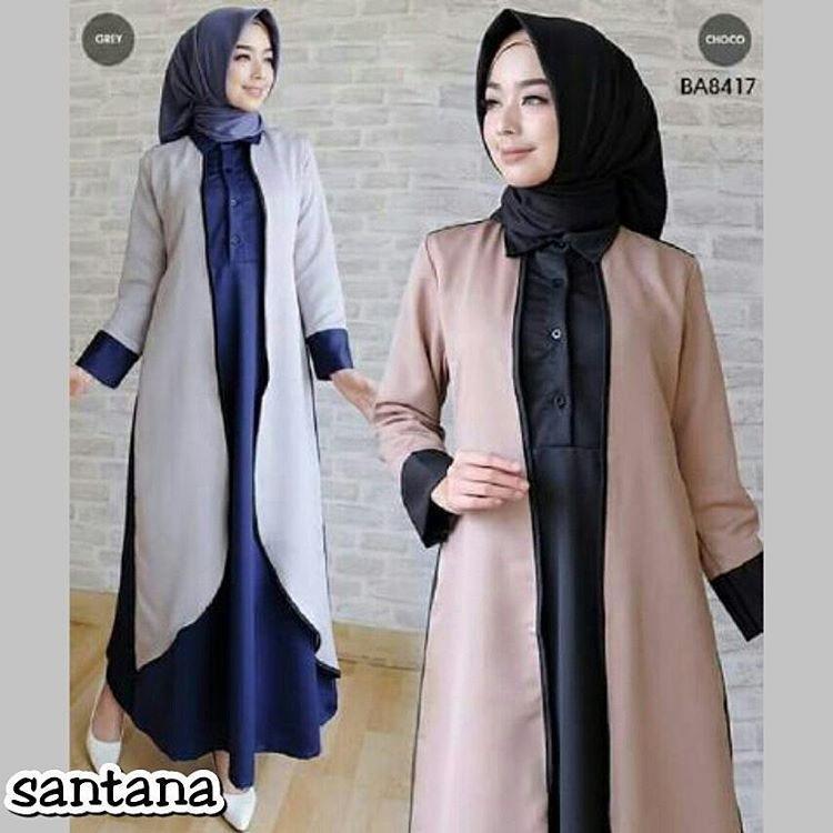 Baju Muslim Original Gamis Santana Dress Dress Baloteli Baju Panjang Muslim Dress Casual Wanita Pak