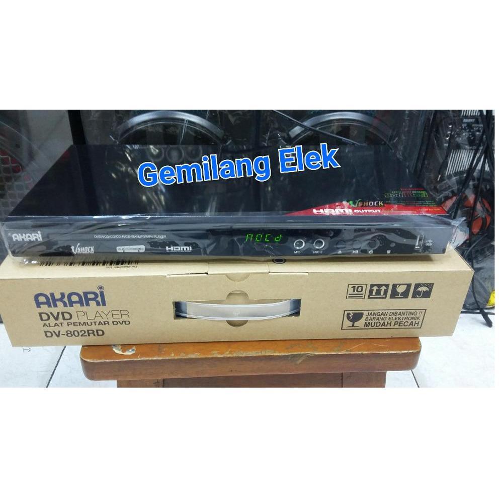 Promo DVD Player AKARI DV-802RD (HDMI)