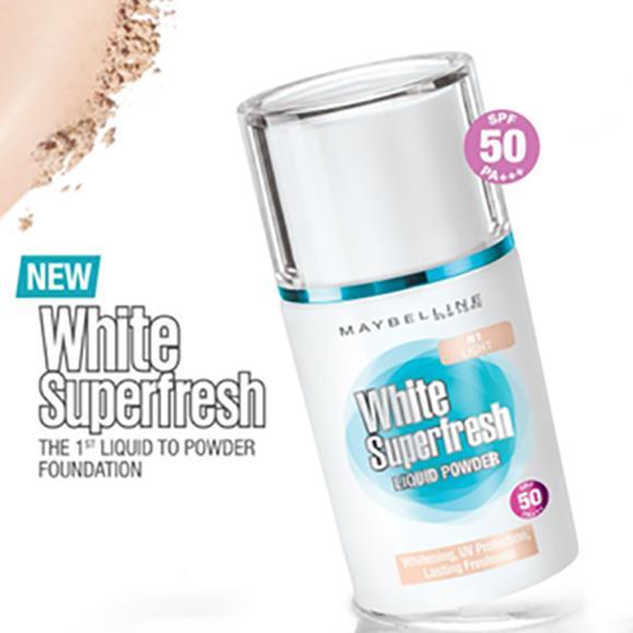 Maybelline White Superfresh Liquid Powder - IVORY SAND BEIGE NATURAL HONEY