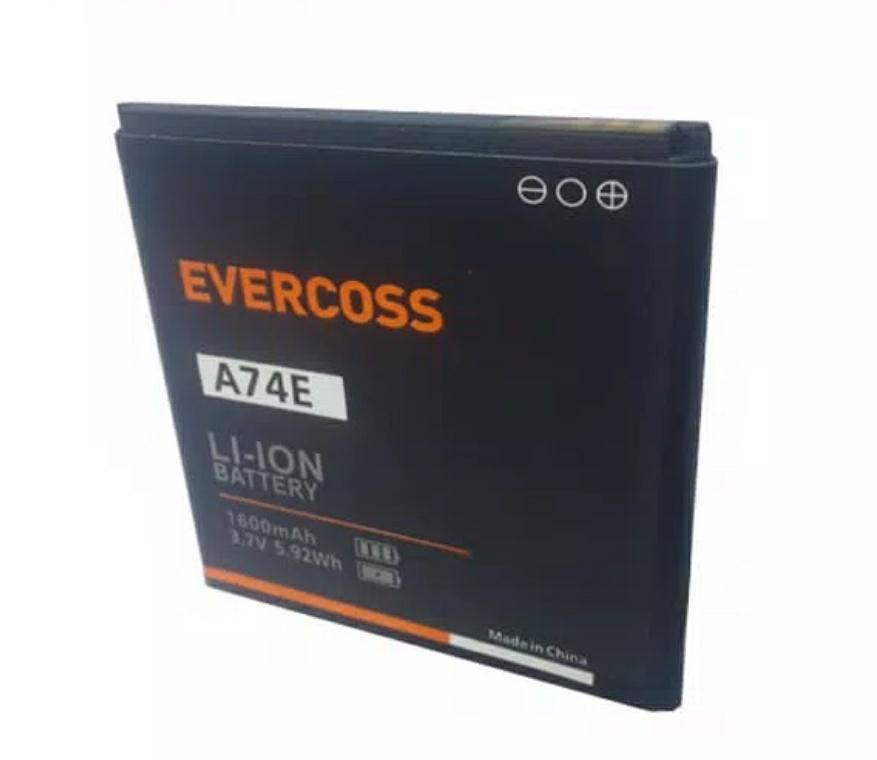 BATERAI BATRE BATTERY EVERCOSS A74E DOUBLE POWER ORIGINAL 4800MAH