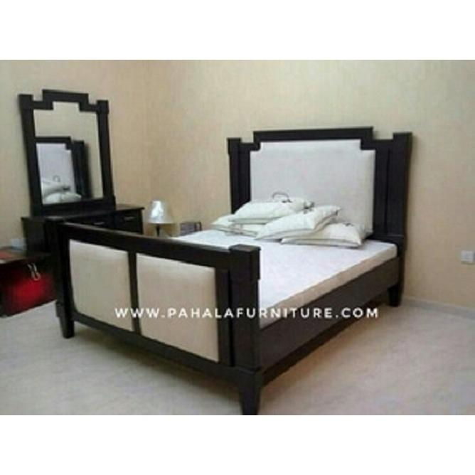 Tempat Tidur Jati Minimalis Kivla (Dipan Jati, Bed Frame Jati)