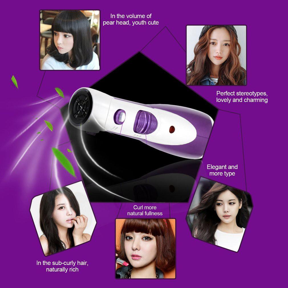 7In1 KM-585 Anion Hair Dryer Roll/Sisir Multifungsi Untuk Meluruskan/Keriting Rambut