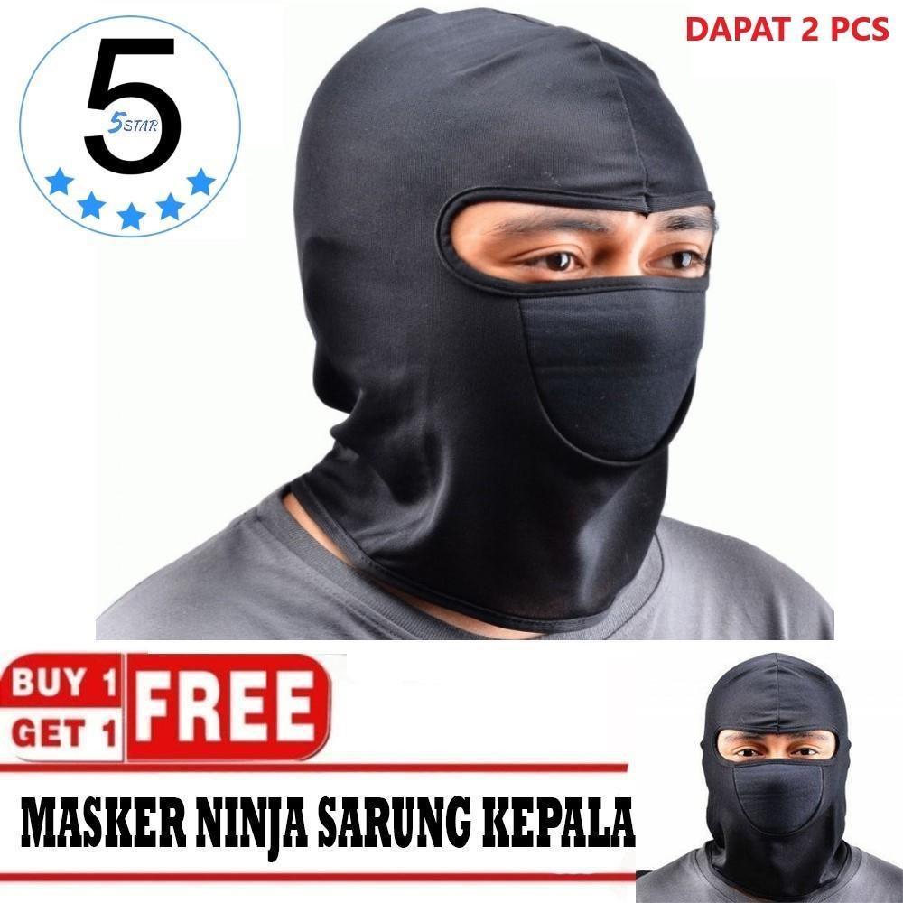 5 STAR BUY 1 GET 1 - Sarung Kepala Helm Motor / Masker Ninja Anti Debu