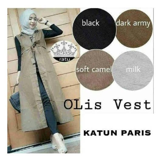 Baju atasan/ blouse muslim/ gamis/ cardy rompi olis vest