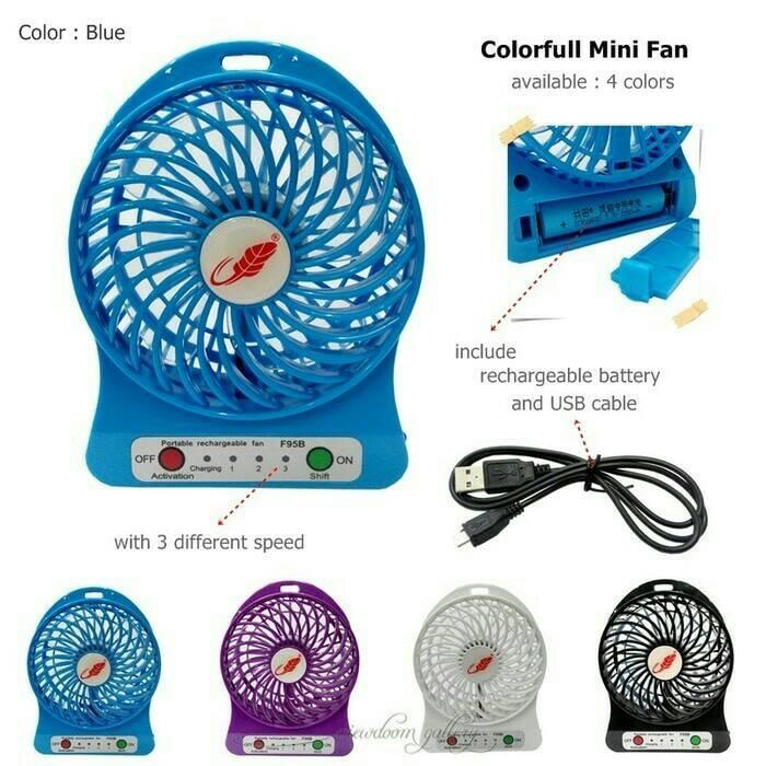 Portable Mini Fan Rechargeable Kipas Angin Mini Pendingin Recharge Cas Kecil -Random