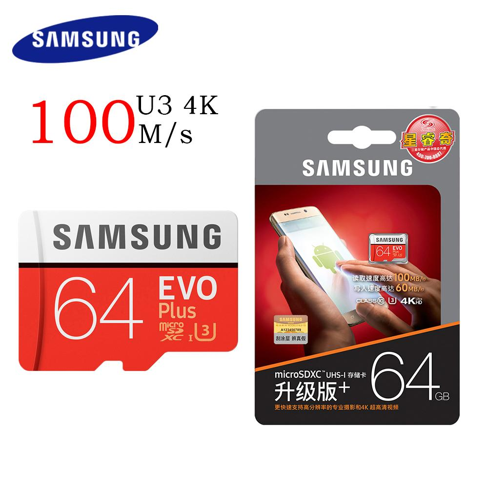 Jual Memory Card Samsung Original 100 Microsdxc Evo Plus U3 K4 64gb 100mb S With Adapter