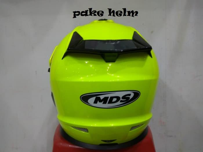 Best Seller HELM MDS SUPER PRO SUPERPRO SOLID YELLOW FLUO SUPER MOTO SUPERMOTO
