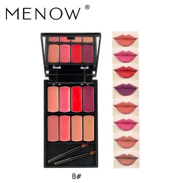Menow 8 Warna Lip Gloss Makeup Tahan Lama - Lipstick Cosmetic Makeup Palette - L501-B