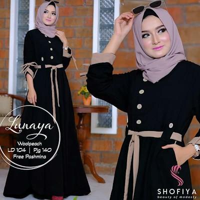 JAKARTA GROSIR -  lunaya dress balotelly mc Fashion Dress / Atasan / Tunik / size M, L dan XL