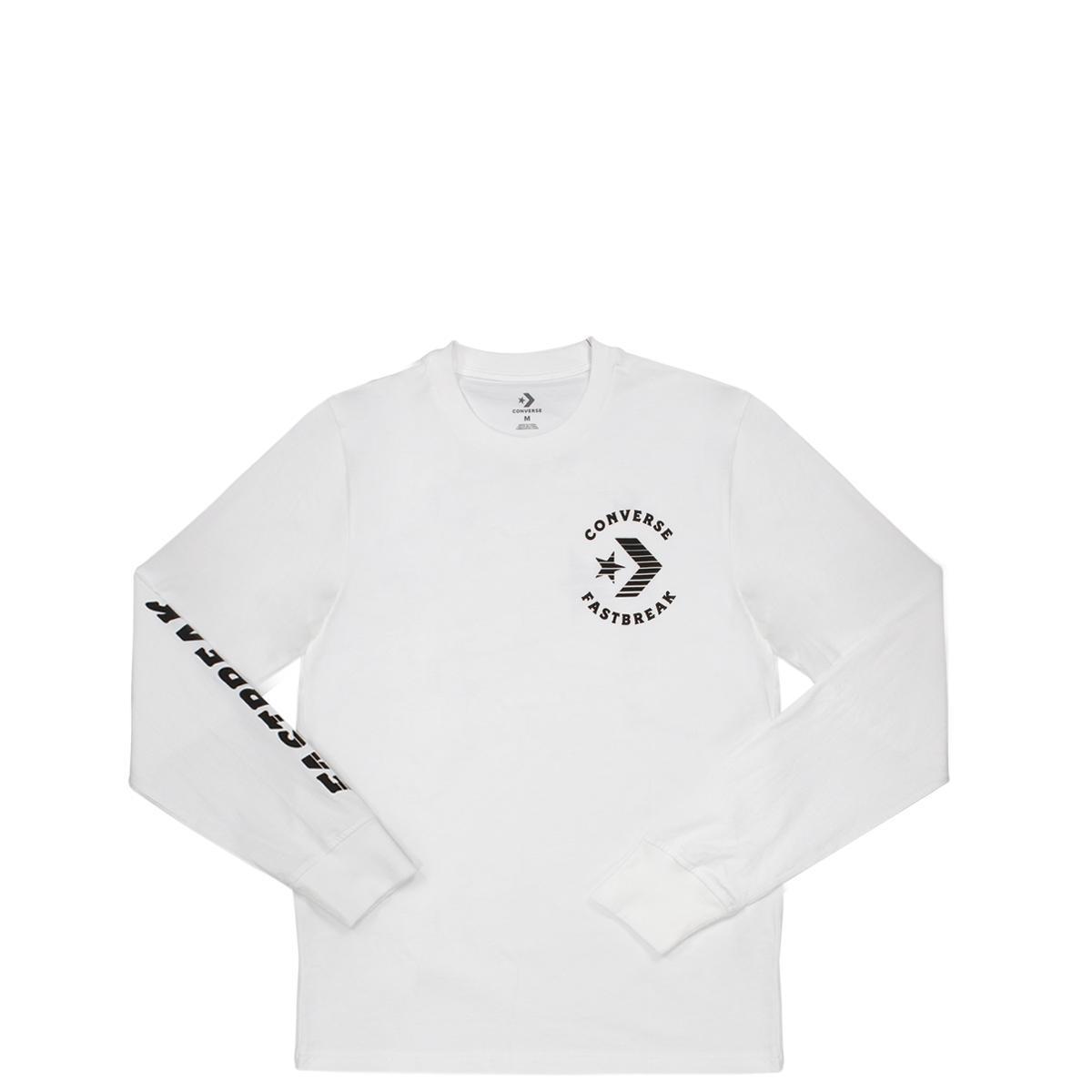 Converse Fast Break Baju Lengan Panjang Pria - Putih a7c5e44233
