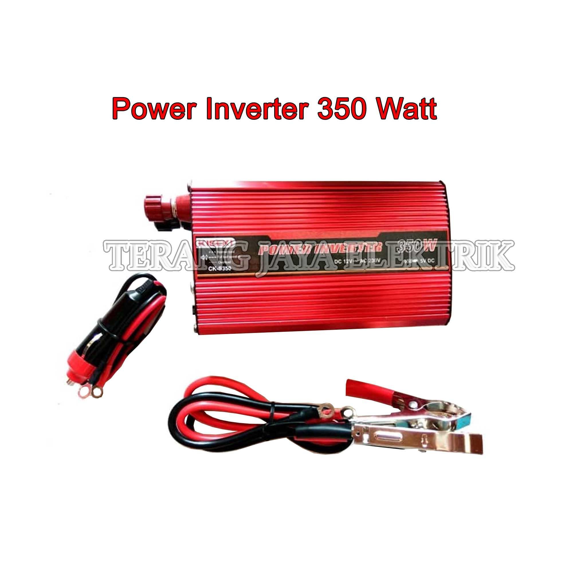 Power Inverter / Perubah Arus Aki DC 12V ke AC 220V 350 Watt Kiseki