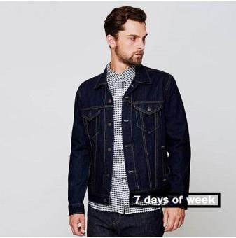 Price Checker 7dayofweek - jaket jeans denim pria super premium pencari  harga - Hanya Rp75. d2d96359c1