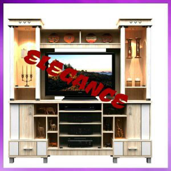 Rak Meja TV - Buffet Lemari TV Jumbo 200x200 pake Lampu Hias Free Ongkir Pekanbaru