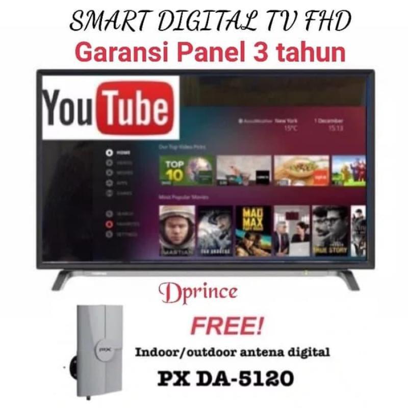 Coocaa 40 Inch Smart LED TV 40S3A12G + Antena PX DA 5120