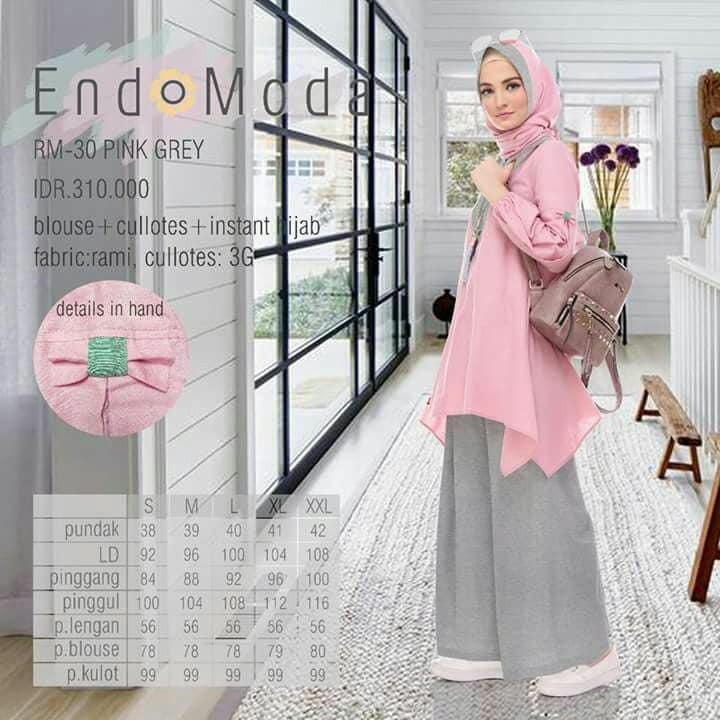 Setelan Kulot Endomoda RM 30 Pink