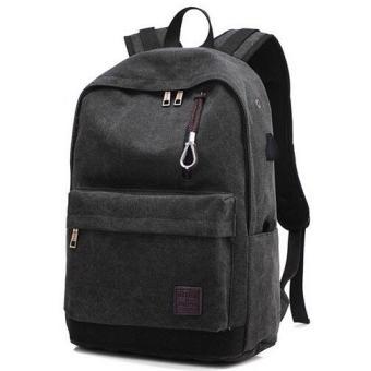 Pencari Harga Tas Ransel Backpack Oxford + USB Charger Port - Black terbaik murah - Hanya Rp106.495