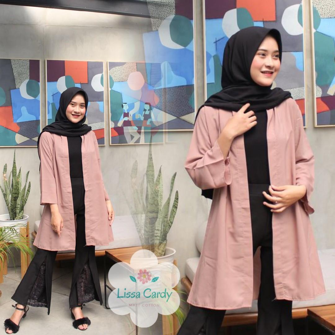 Baju Murah Terbaru Lissa Cardi Wolfice Pakaian Wanita Atasan Muslim Luaran Casual Fashion Hangat Murah Remaja