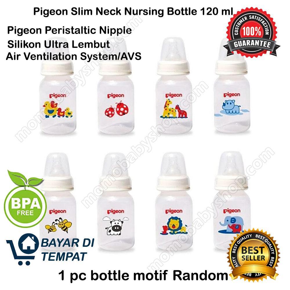 Pigeon 1pcs Botol Susu Peristaltic Nipple Slim Neck S Motif Animal RANDOM 120ML