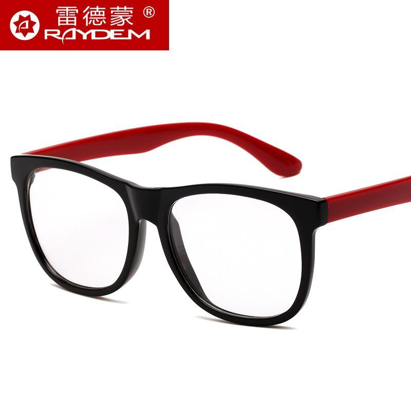Versi Korea Bingkai Kacamata Wanita Pasang Retro Bingkai Kacamata Pria 眼睛框  Bingkai Besar Kaca Polos c890782796