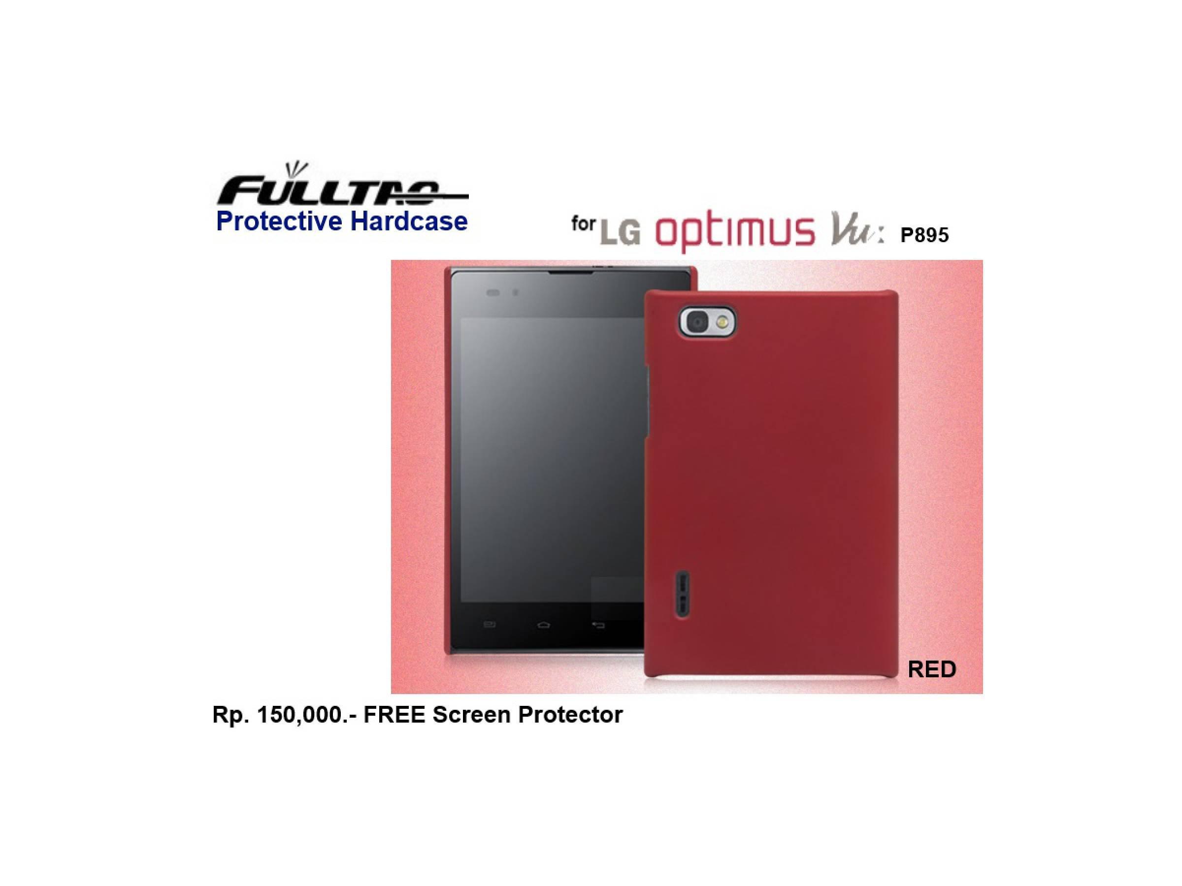 LG Optimus Vu P895 : FULLTAO Hardcase FREE SP (RED)