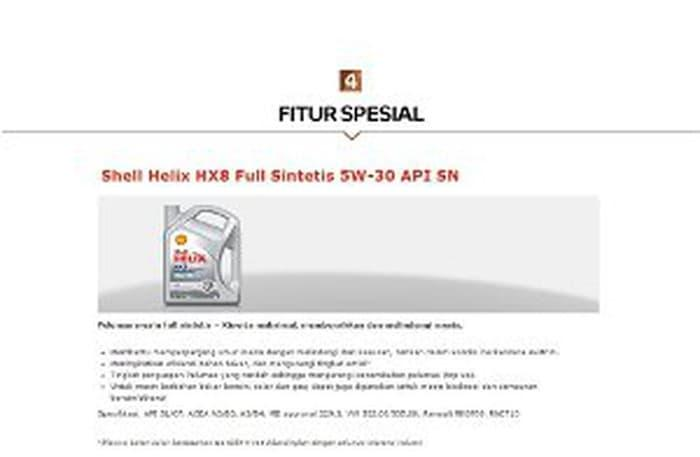 CUCI GUDANG Oli Mesin Mobil Motor Shell Helix Hx8 5w 30 Fully Murah