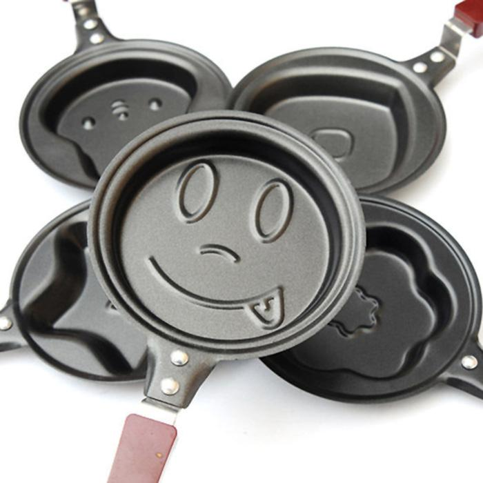 Teflon Mini Karakter yummy / wajan kecil fry pan bentuk - SMILE FACE
