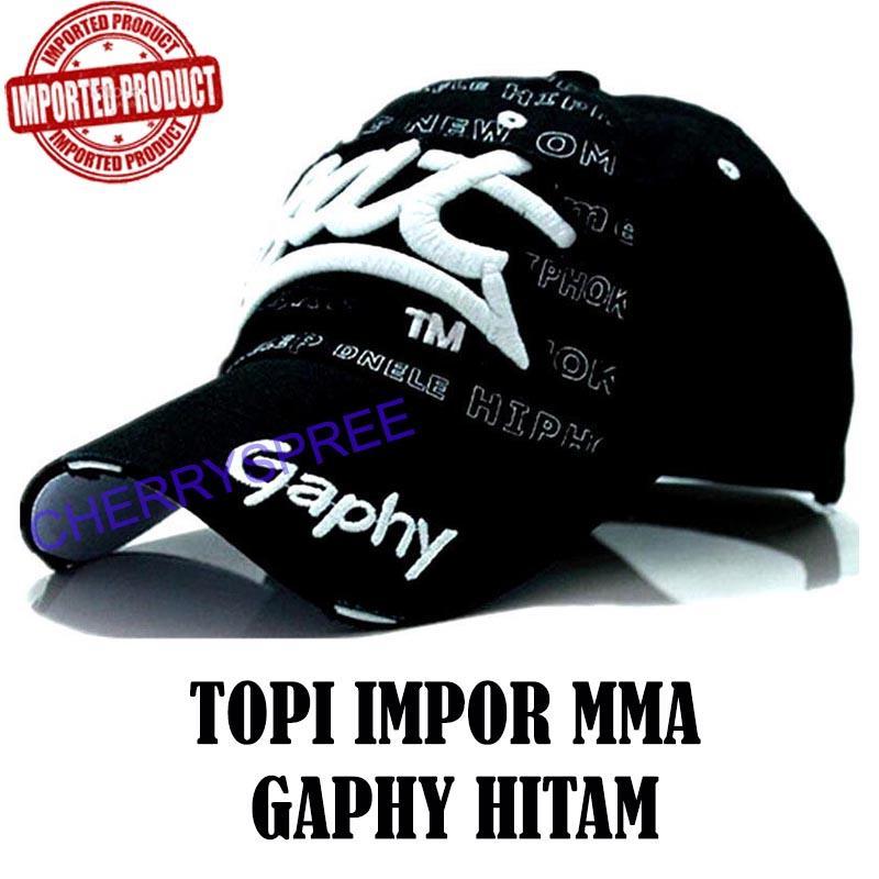 Topi Gaphy Motor Racing Baseball Hat Cap Topi Baseball Impor Pelindung Kepala Topi Bisbol Pria Wanita Graphy Sports Fashion - Hitam