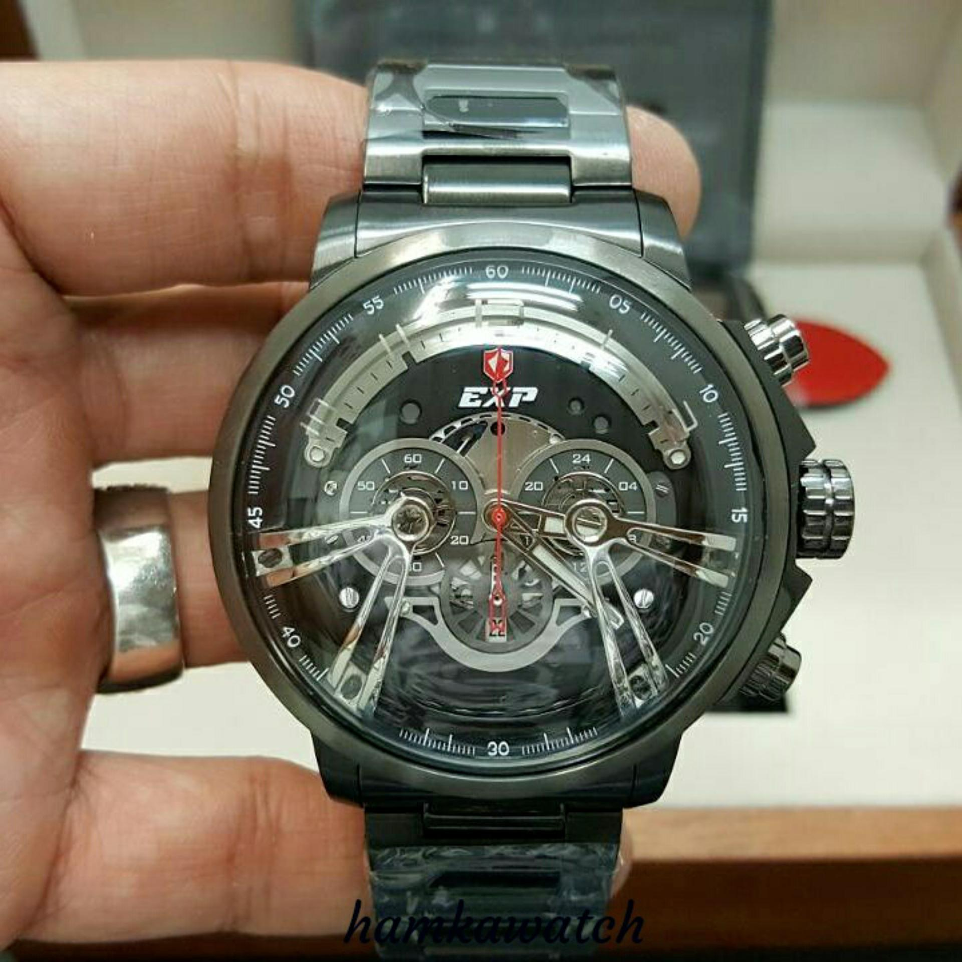 Expedition Jam Tangan Pria E6725m Silver Stainless Steel E6392 Black Leather Brown Original E6734
