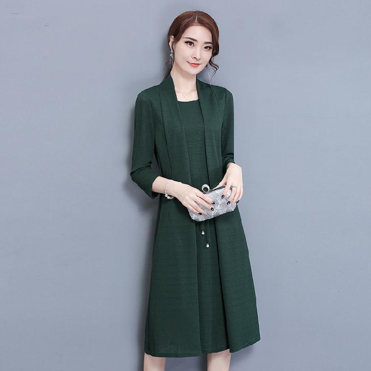 Gaun Yang Tidak Kenal Dua Potongan Renda Rok Dalaman Setengah Baya Setengah Baya Perempuan (Hijau Gelap)