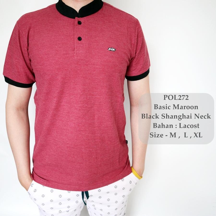 Rp 75.000. GFS Polo Shirt Maroon Kombinasi / Kaos Sanghai Pria / Baju Kerah Cowok / Polo Cowok ...