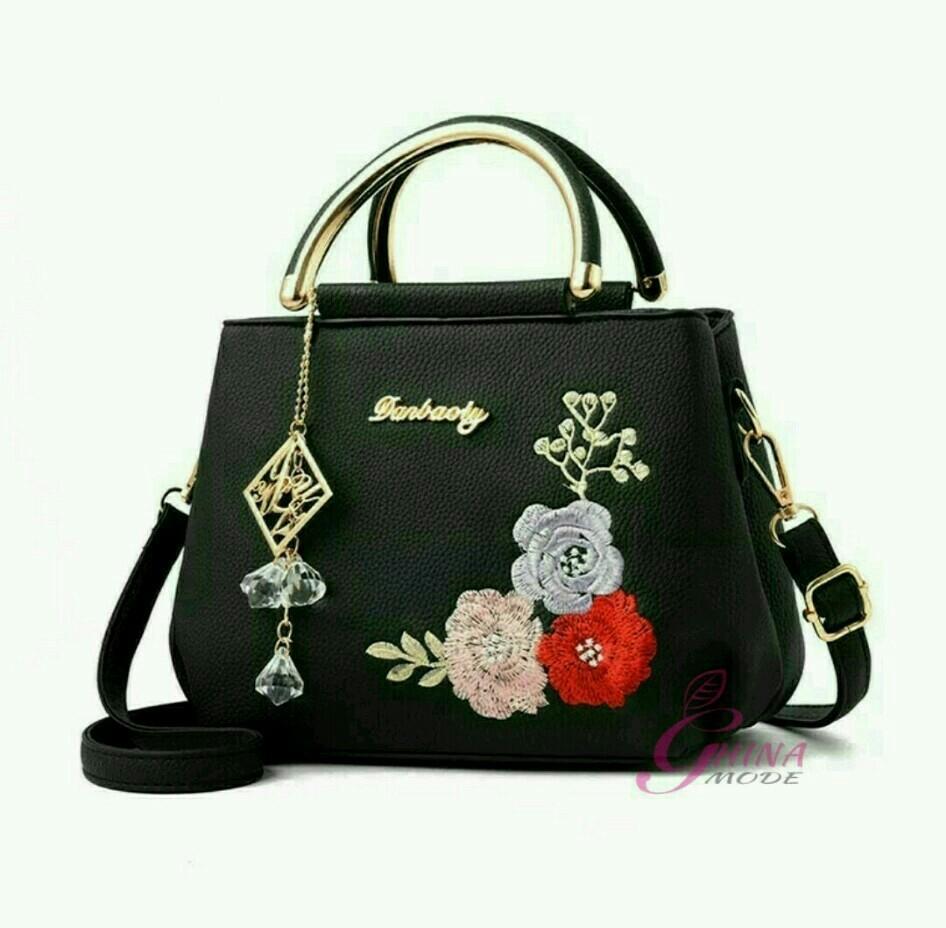 Hafiza store Sling Bag / ToteBag / tas selempang wanita ANGGREK GHINA