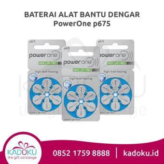 Harga Penawaran Baterai Alat Bantu Dengar Powerone 675 (Tipe Terbaru Mercury-Free) discount - Hanya Rp59.036