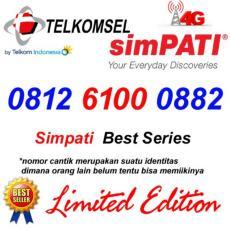 Telkomsel Simpati 4G Lte 0812 6100 0882 Kartu Perdana Nomor Cantik