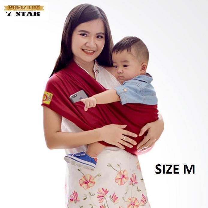 Gendongan Bayi Premium Original 7STAR - Gendongan Kaos Geos GEOS Little Hippo SIZE M - Random