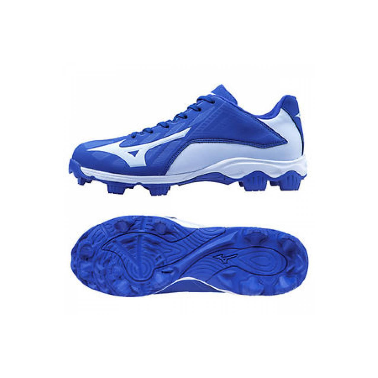 Mizuno 9 Spike Advanced Franchise 8 Baseball Cleats Shoes Blue/White 3