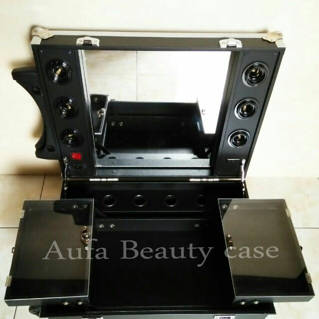 beauty case lampu/koper makeup/box makeup