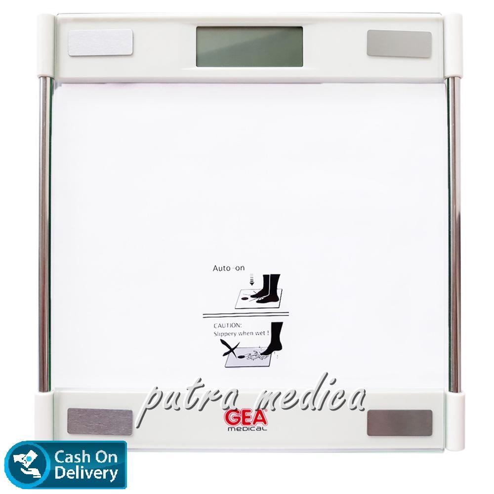 Putra Medica GEA Timbangan Badan Digital EB9063 [White] / Timbangan Elektrik Transparan Lucu Unik / Alat Ukur Pengukur Berat Badan Program Diet