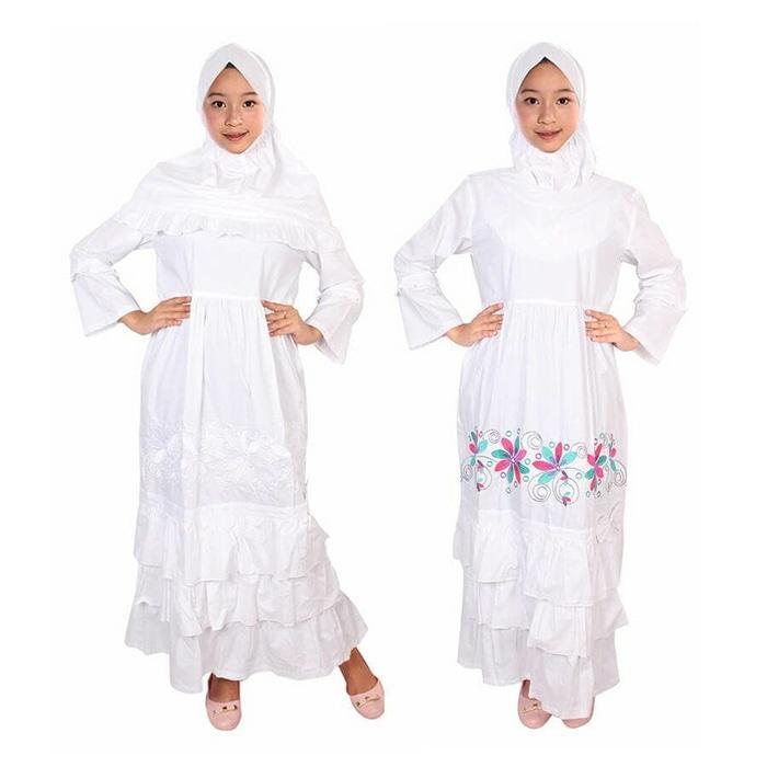Fayrany FGP-008 Size 1 - 6 Baju Muslim Anak Gamis - Putih
