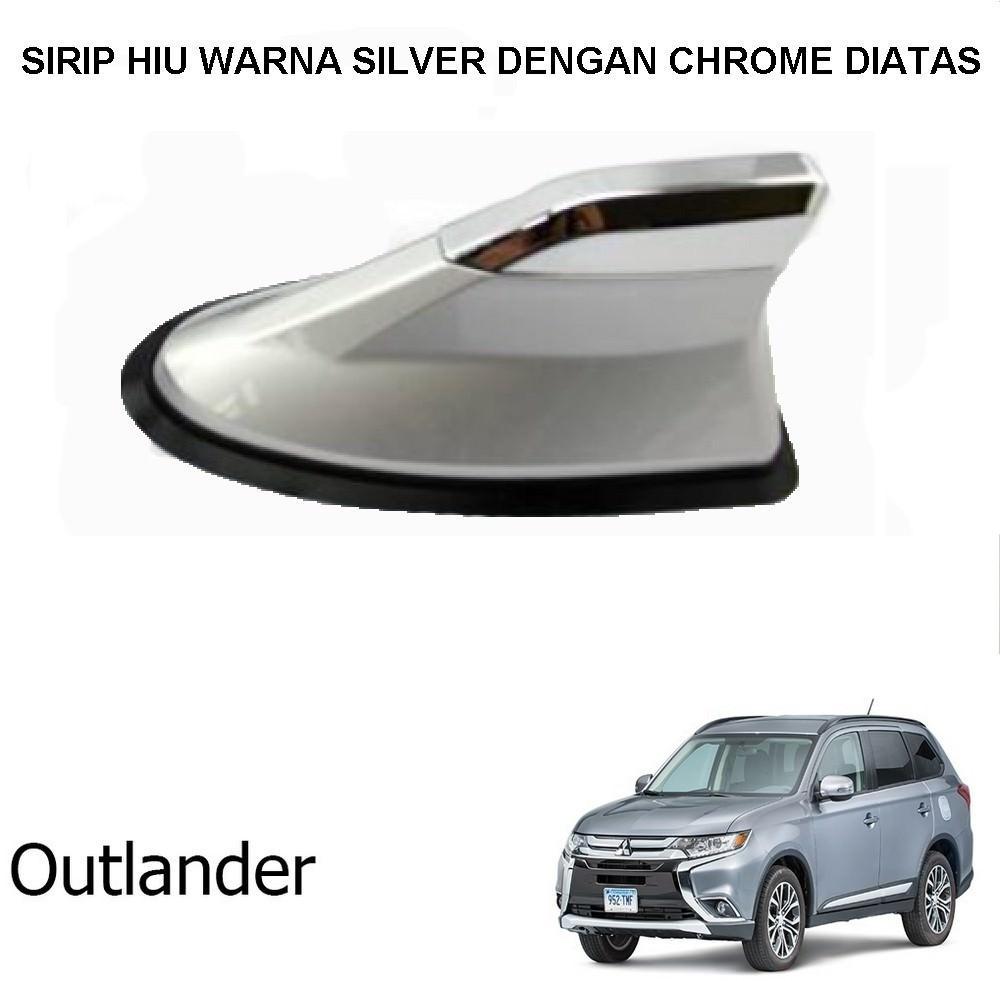Antena Sirip Hiu Mobil Outlander Universal Warna Dengan Chrome Diatas