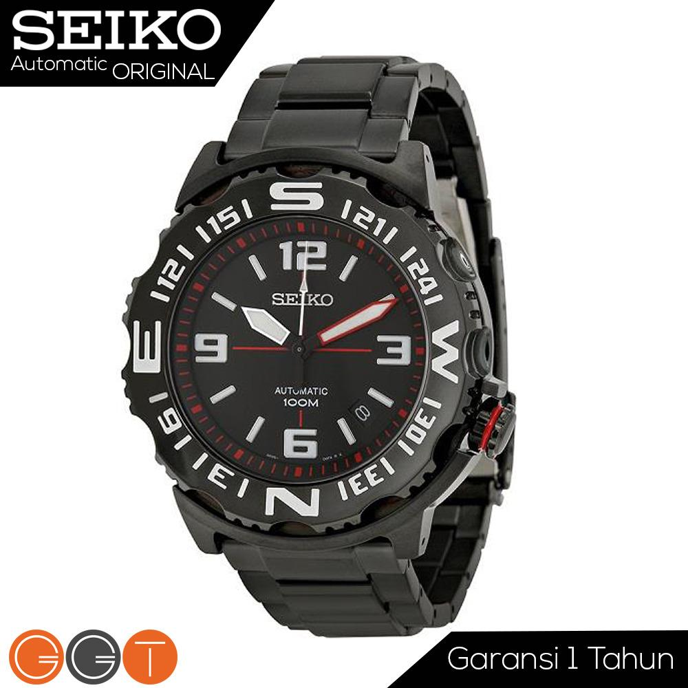 Seiko Superior Automatic Superior Divers Men's Watch - Jam Tangan Pria - Stainless Steel Strap - Automatic Movement- SRP447K1 - Black Promo