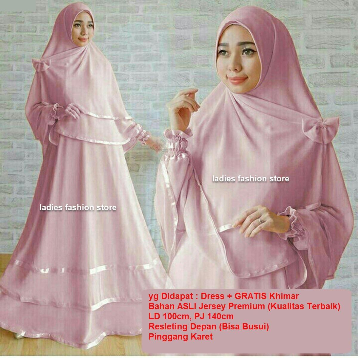 Dress Muslimah BUSUI / Fashion Muslim / Gamis Muslim Syari / Dress Muslim / Gamis Wanita / Baju Muslim / Hijab Muslim / Syar'i Muslim / Maxi Dress Lengan Panjang / Gamis Modern Dress/ Muslimah / Dress Gamis Murah / Pakaian Muslimah 1n (ggunan) DUSTIPINK