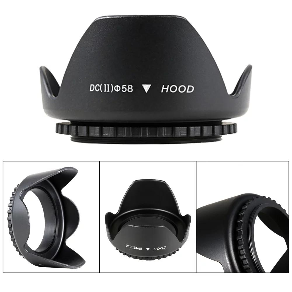 Lens Hood Untuk Kit Canon 1000D 1100D 1200D 1300D 450D 500D 550D 600D 650D 700D LensHood Kit 18 55