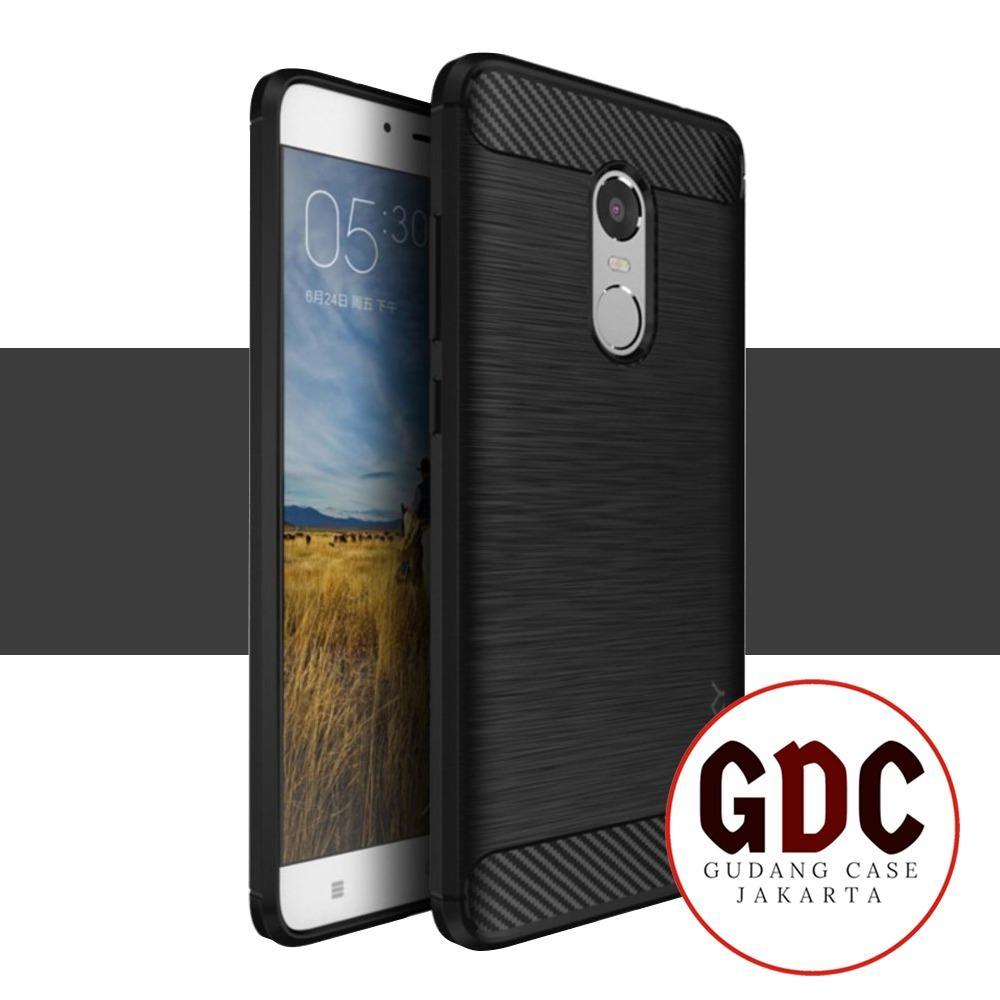 GDC iPaky Carbon Fiber Shockproof Hybrid Case for Xiaomi Redmi Note 3 Pro - Black