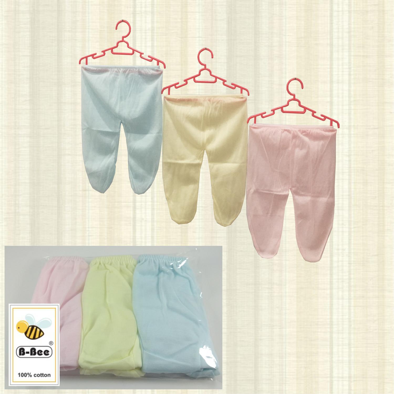 1X Celana panjang Anak Bayi Baby New Born Warna Polos tutup b-bee isi 6 pcs