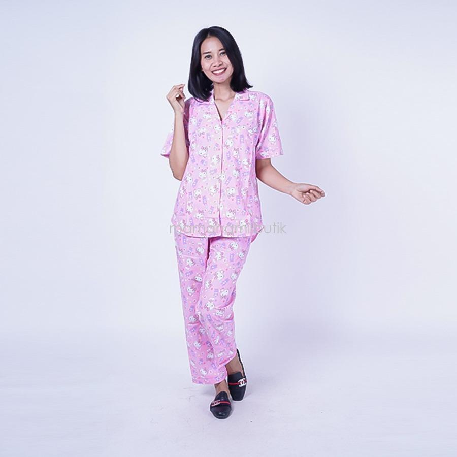 Ning Ayu Baby Doll Hamil Hello Kitty CP Majesty - BD 241/ Baju Hamil Muslim / Baju hamil Kerja / Baju Hamil dan Menyusui / Baju Hamil Lucu / Baju Hamil Panjang / Baju Hamil Modern / Baju Hamil Wanita