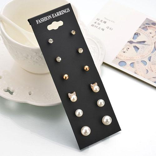 Anting Korea Minimalist Earrings 6 Pairs NOV075